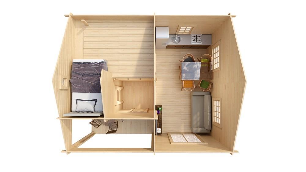 Дом со спальным лофтом LEEDS
