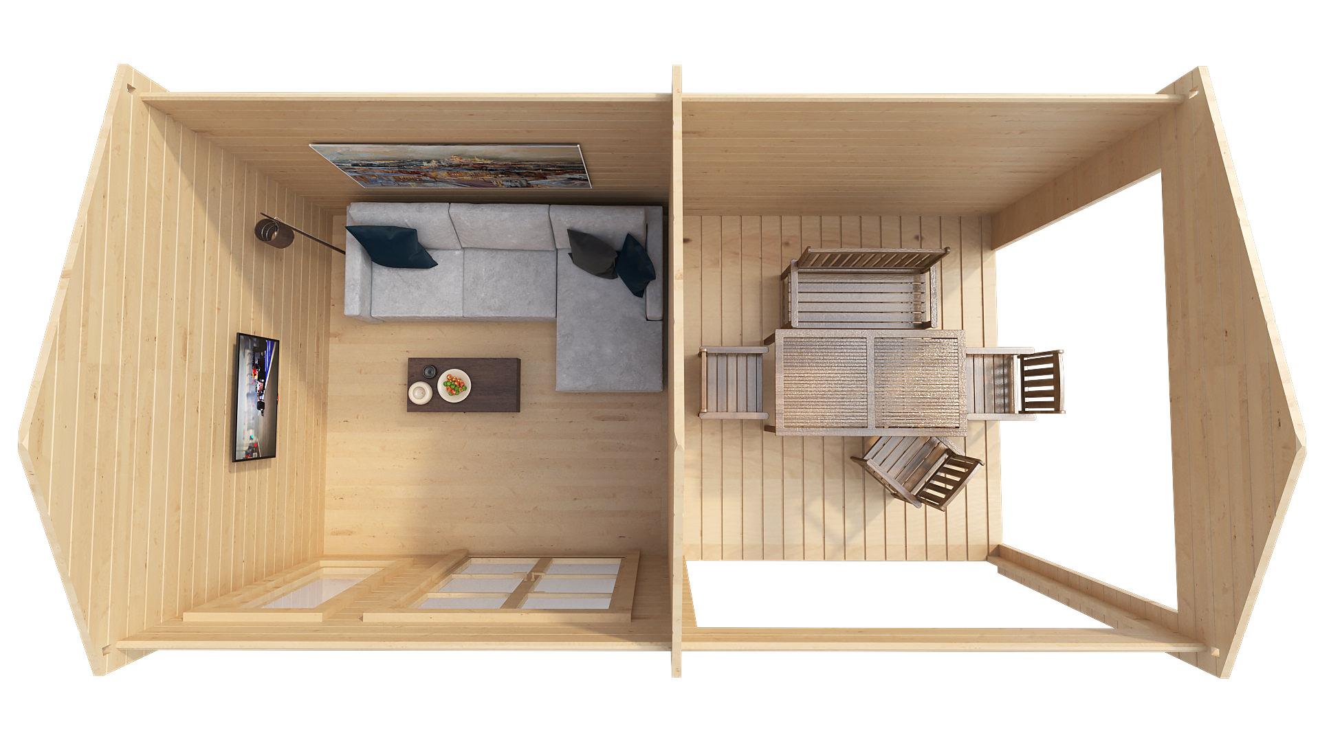 Классический домик с террасой NORA D
